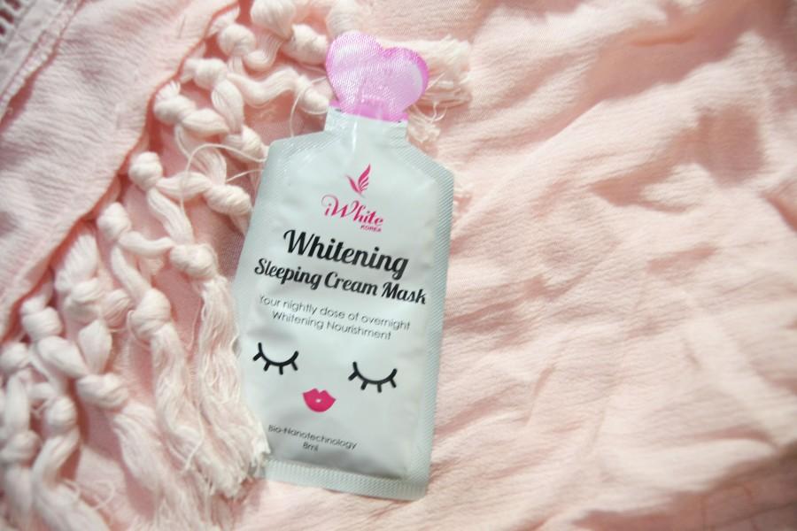 Review: iWhite Korea Whitening Sleeping CreamMask